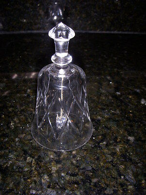 """CUT CRYSTAL BELL unknown maker EXCELLENT CONDITION 4 3/4"""""""