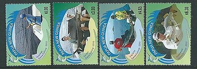 Papua New Guinea 2010 Game Fishing Set Of 4  Unmounted Mint,mnh