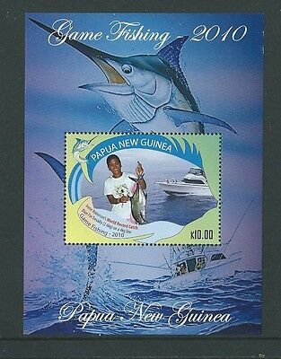 Papua New Guinea 2010 Game Fishing Miniature Sheet  Unmounted Mint,mnh