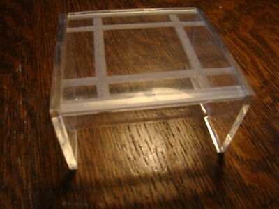 Vintage Lucite Acrylic Clear Trinket Box with Design