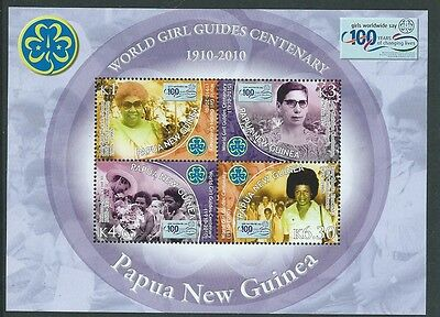 Papua New Guinea 2010 Girl Guides Miniature Sheet  Unmounted Mint,mnh