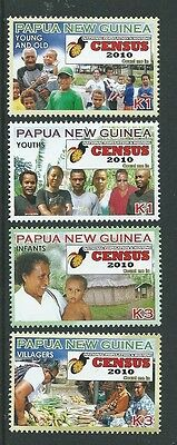 Papua New Guinea 2010 Census Set Of 4  Unmounted Mint,mnh