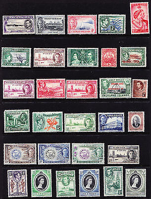 British Commonwealth Stamps M/Mint from Old Album GCV