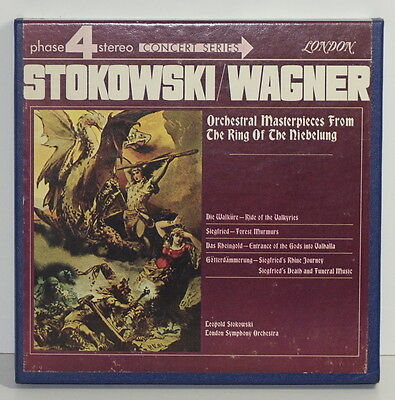 Wagner / Stokowski / Niebelung / Reel To Reel Tape / 4 Track / London Lcl 75016