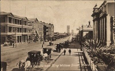 Ak Adelaide Australien, North Terrace from Kind William Street,... - 1414125