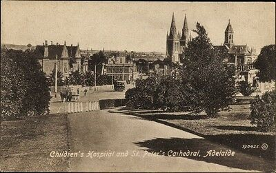 Ak Adelaide Australien, Children's Hospital and St. Peter's Cathedral - 1414214