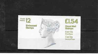 GB 1985 Postal History #12 Folded £1.54 Booklet - FQ 2A