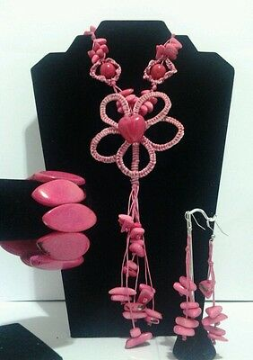 New Pink Tagua Set from Ecuador