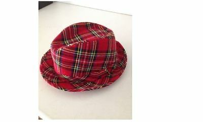 Les Mckeown Bay City Rollers Brand New Tartan Coloured Trilby Hat