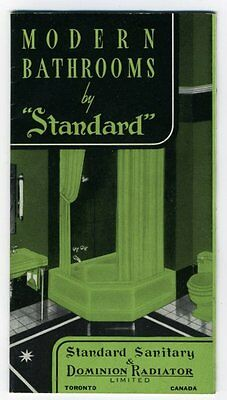 MODERN BATHROOMS by STANDARD Toronto 1920s-40s Catalogue Booklet Sinks Tubs