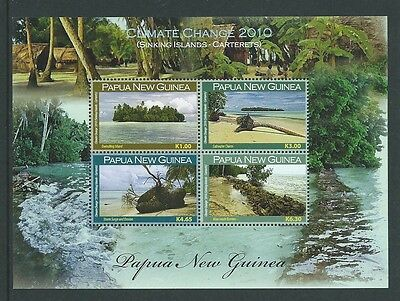 Papua New Guinea 2010 Climate Change Sheetlet Of 4 Unmounted Mint,mnh