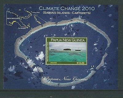 Papua New Guinea 2010 Climate Change Miniature Sheet Unmounted Mint,mnh