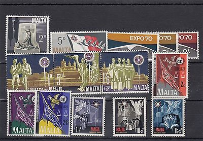 Malta.15--1970 Mounted Mint Stamps On Stockcard