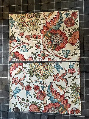 """Pottery Barn Cora Floral 2 X Beige Floral Placemats 20"""" X 14"""" New"""