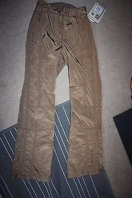POIVRE BLANC salopettes ski snowboard trousers NEW size XS brown winter sport