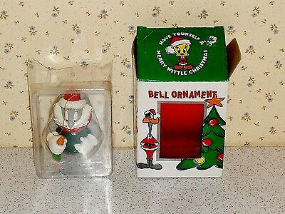 Bugs Bunny Looney Tunes Christmas bell ornament NOS