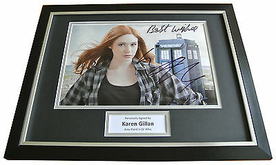 KAREN GILLAN Signed FRAMED Photo Autograph 16x12 Display Doctor Who Amy Pond COA
