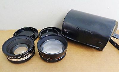 Yashica Yashikor Y607 Telephoto and Wide Angle 1:4 Aux. Lens Set