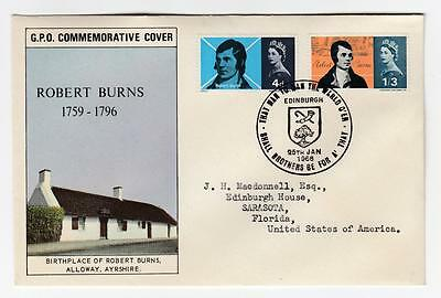 Gb 5 Different Robert Burns First Day Covers Po Fresh