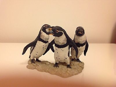 Beautiful Stone Critter Penguins , Great Collectors Item , Excellent Condition