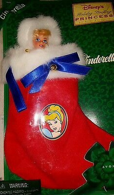 DISNEY Christmas Stocking Cinderella Princess AVON exclusive Mattel NIP Girls
