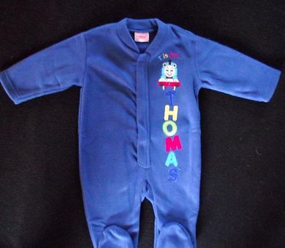 Wholesale joblot x 6 baby sleepsuits Thomas the Tank Engine 3-6 months New