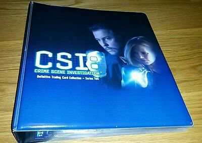 CSI Definitive Series 2 Trading Cards Master Set in Binder ( Auto, Costumes)