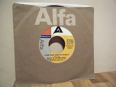 "7"".SINGLE.rock.BILLY AND THE BEATERS.1981.TAKE CARE OF MYSELF.alfa label. R&B."