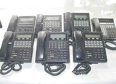 (7) Samsung Prostar Dcs Lcd 24B 12B & 816 Office Business Phone Telephone Lot