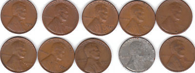 1940S 1941S 1942S 1943S 1944S 1945S 1946S 1947S 1948S 1949S  LINCOLN CENTS   f/s