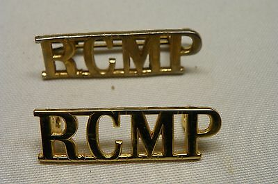 vintage RCMP ROYAL CANADIAN MOUNTED POLICE title badge x 2