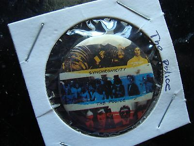 """Vintage The Police Synchronicity Pin 1 1/4"""" Diameter"""