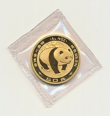 1/2 oz 50 Yuan Gold Panda 1983 in Originalfolie
