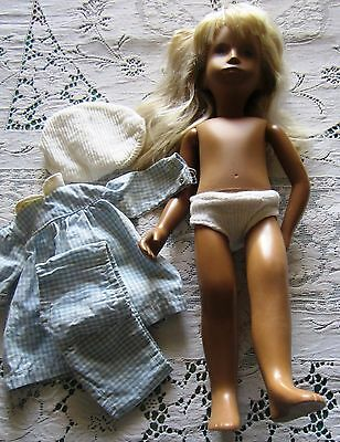 "16"" inch Sasha doll made in England? Gingham dress Long blonde hair  Lovely face"