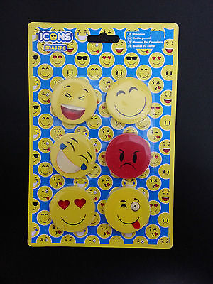 A Novelty Face Emotion Icons,Emojy 4.5cm Erasers/Rubber,Party Bag Fillers,School
