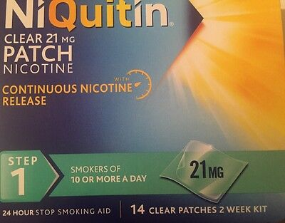 NiQuitin Clear 21mg Patch Nicotine Step 1 - 14 Patches