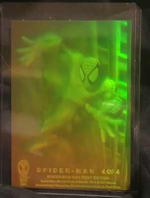 Marvel 1994 3D Holographic Spiderman 4of 4 First Edition Mint Trading Card