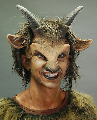 Goat Boy Beast Satyr Pan Adult Halloween Mask Eat Drink & Party While Wearing