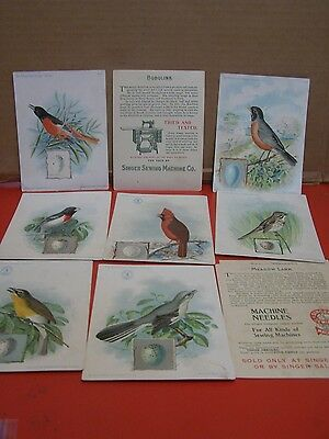 The American Singer Sewing Series Bird Cards Lot of 10