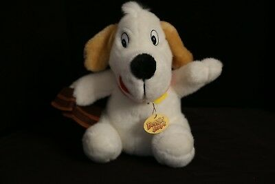 "Beggin Strips Brand Dog Snack 10"" Plush Toy Doll holding bacon"