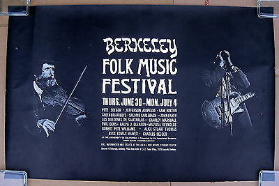 BERKELEY FOLK MUSIC FESTIVAL 1966 Concert Poster JEFFERSON AIRPLANE PHIL OCHS