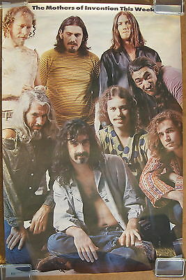 THE MOTHERS OF INVENTION This Week 1969 US Head Shop POSTER Frank Zappa Minty!