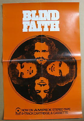 BLIND FAITH s/t 1969 US ORG PROMO POSTER Ampex Stereo Tape 8-Track ERIC CLAPTON