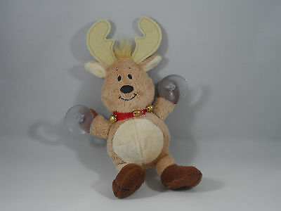 Plush Reindeer with Suction Hangers Christmas Tree Ornament new holiday