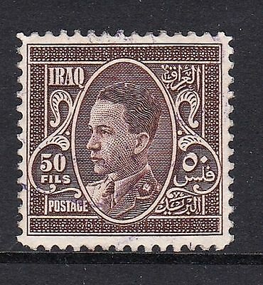 IRAQ SG184 1934 50f STAMP BROWN FINE USED