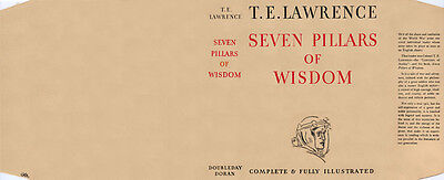 Lawrence SEVEN PILLARS OF WISDOM facsimile dust jacket for the first edn. book