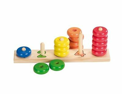 Colours and Shapes Sorting game Learn How To Count Wood