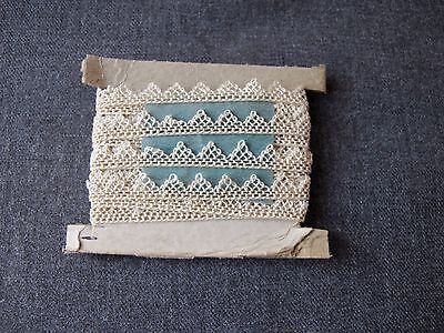 Antique Victorian Lace Trim Edging  3 Yards  Unused  #1