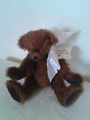 """100% Mohair Teddy By Jacqui Lewis 9"""" Tall , Fully Jointed.( 1/3)"""