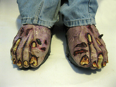 Zombie Undead Feet Shoe Covers Halloween Adult  Costume Turns Shoes Gruesome